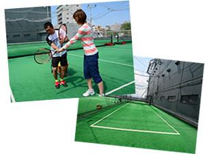 テニス初心者レッスンと専用コート