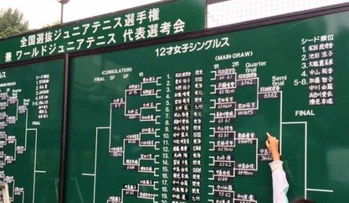 宮田萌芳 全国選抜ジュニア12歳以下 ベスト8