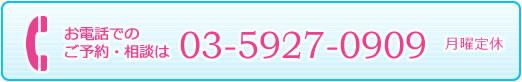 電話をかける03-5927-0909