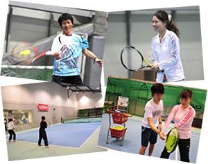 レベル別のテニスレッスン