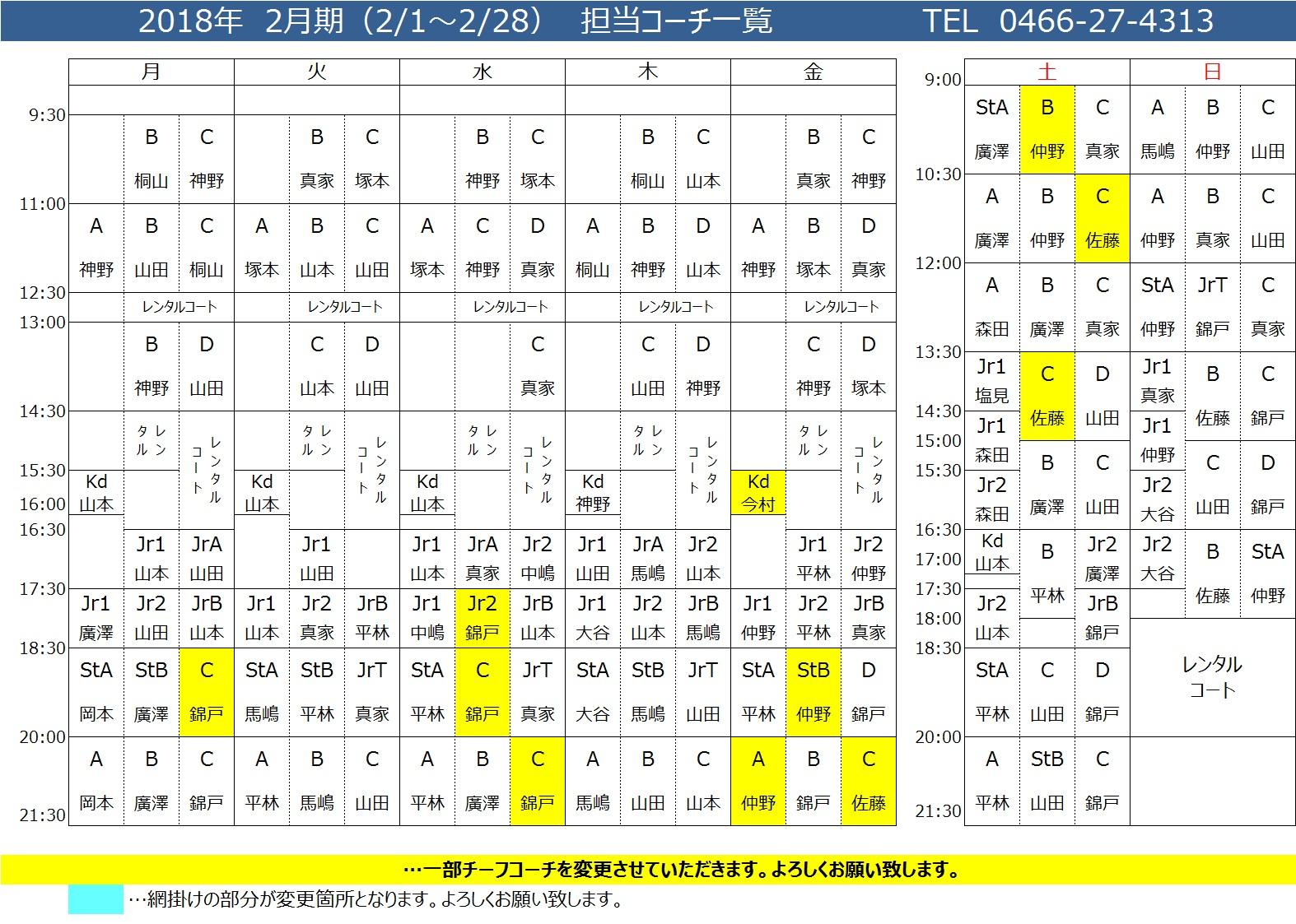 1802コーチ配置表