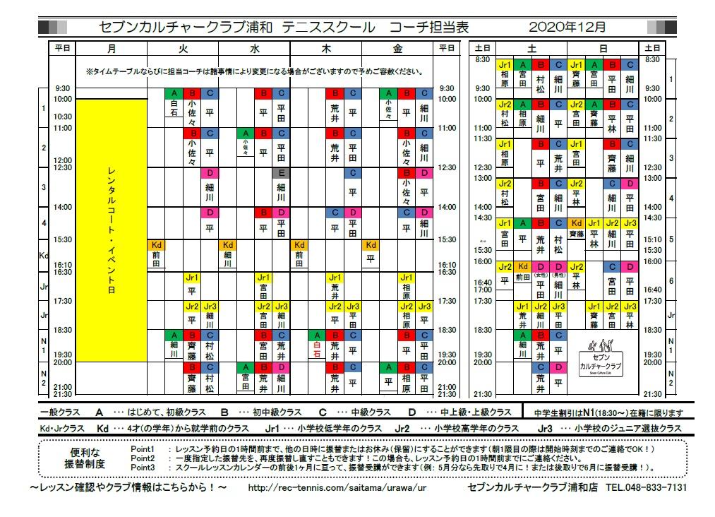 ★12月期コーチ担当表