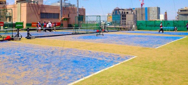 イトーヨーカドー武蔵境店 西館屋上にあるテニスコート