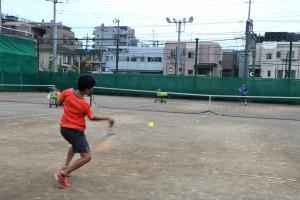 ジュニア強化チーム テニス練習風景