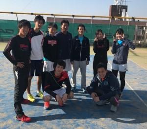 卒業生テニス
